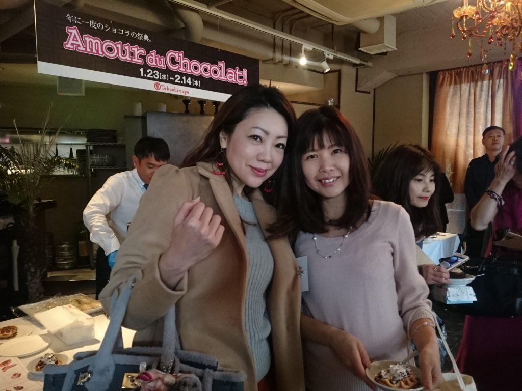 高島屋大阪店 アムール・デュ・ショコラ モデル・タレント 今堀恵理さんと