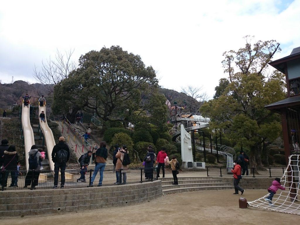 大きな滑り台 五月山公園