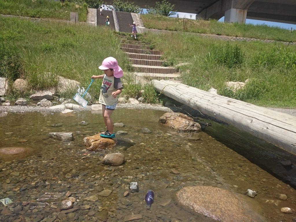 川遊び 公園 ドラゴンランド 川西市 猪名川