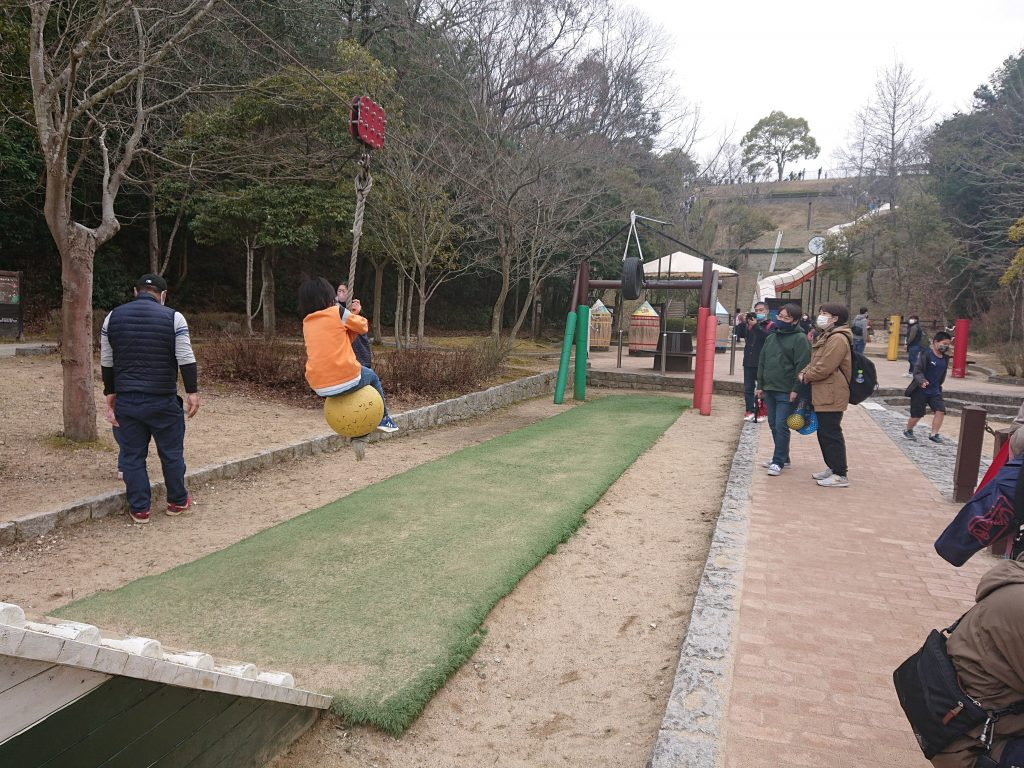 ロープスライダー トリム園地へ。神戸市の施設しあわせの村 入場無料の大型公園