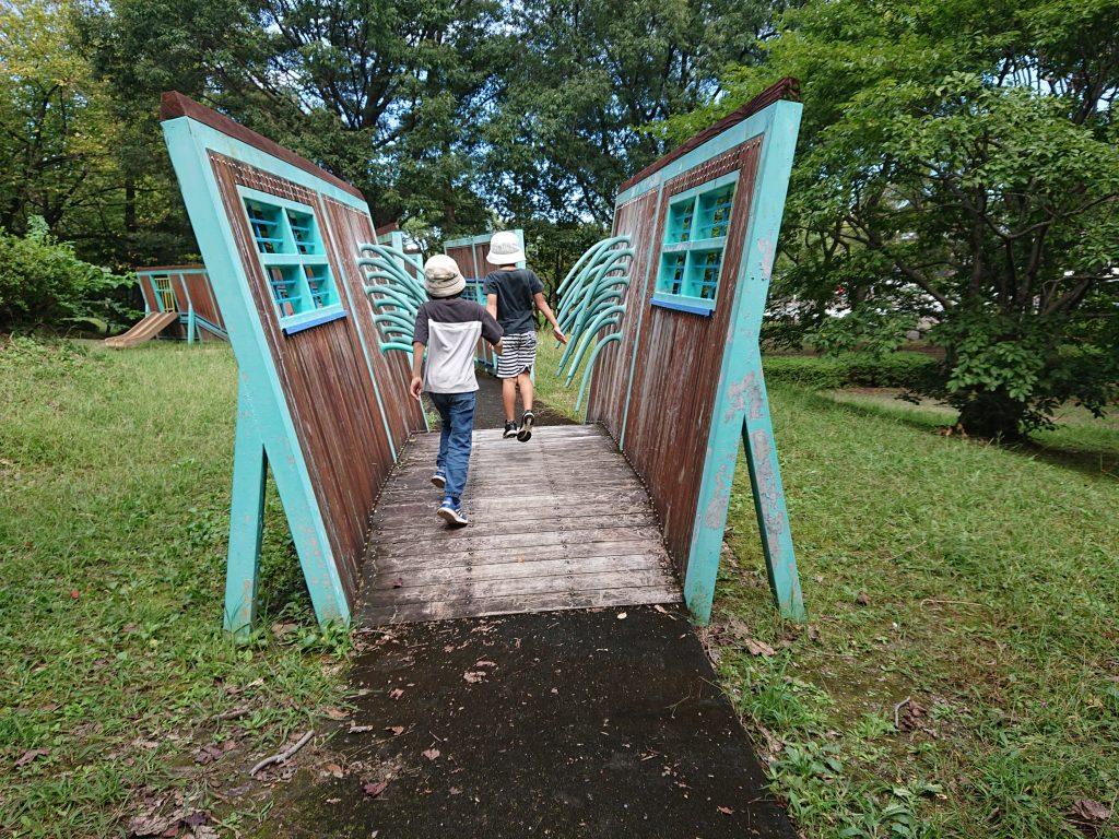 名古屋市『牧野ヶ池緑地』名古屋市名東区大型遊具、広い芝生お勧め公園